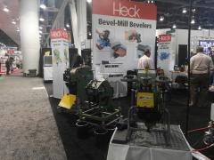 CEVISA bevelling machines on FABTECH 2016 trade show