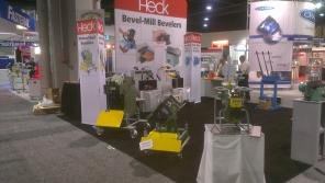 CEVISA bevelling machines on FABTECH 2014 trade show
