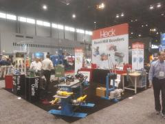 CEVISA bevelers with HECK industries, FABTECH 2017 trade show