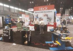 CEVISA beveling machines with HECK industries, FABTECH 2017 trade show