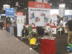 CEVISA bevelling machines with HECK industries, FABTECH 2017 trade show